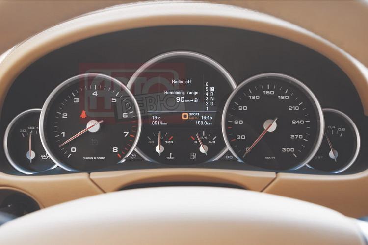 Приборы версии Turbo — с двуцветными стрелками и указателем давления наддува (справа)
