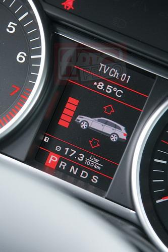 Диапазон регулировки пневмоподвески Audi Q7 — 8 сантиметров